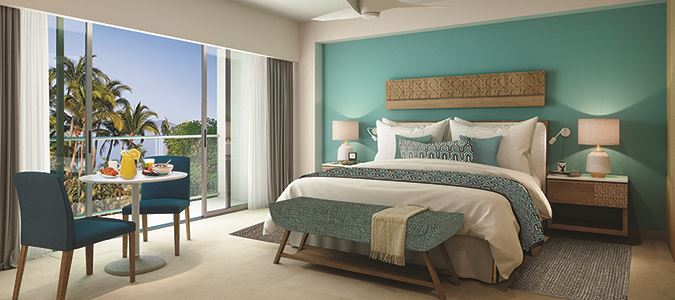 Deluxe Tropical View Guestroom Rendering