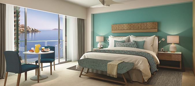 Deluxe Partial Oceanview Guestroom Rendering