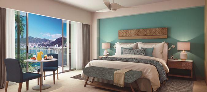 Deluxe Oceanview Guestroom Rendering