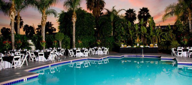 Resort Pool at Night