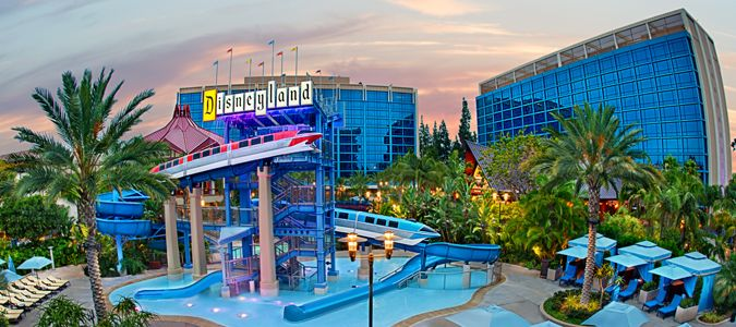 Exterior and Monorail Pool