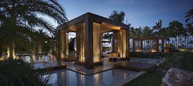 Resort Grounds at Night