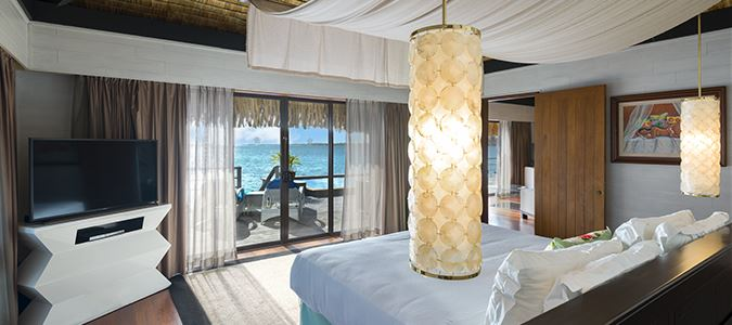 King Two Bedroom Overwater Royal Suite Villa Mt. Otemanu View