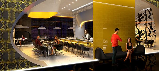 Japanese Restaurant Rendering