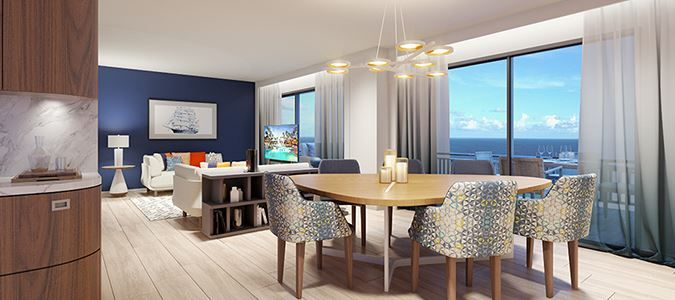 Oceanfront Suite Rendering