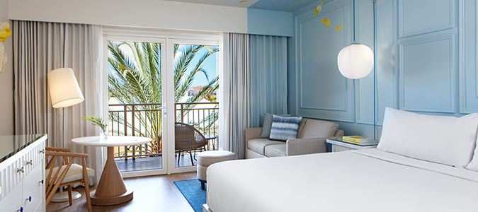 Island King Guestroom with Full Balcony