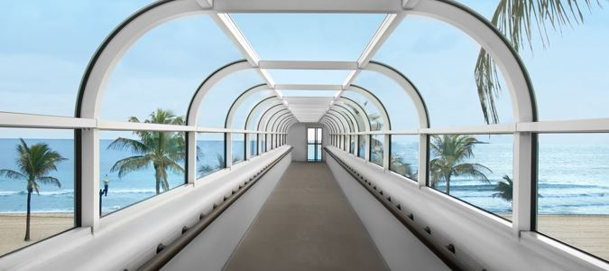 Skywalk to Beach from Pool Deck