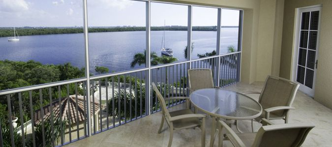 Suite Patio with Marina View