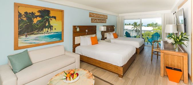 Two Queen Partial Oceanview Guestroom