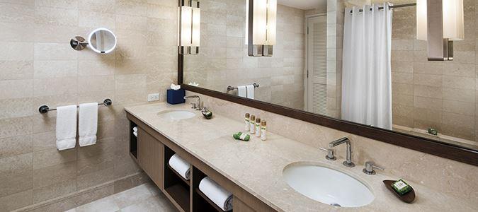 Guestroom Bath with Double Vanity
