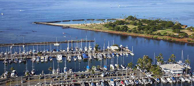 View of Marina and Magic Island