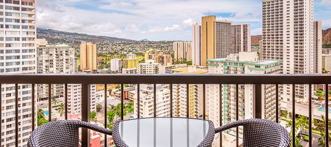Waikiki City View Guestroom Lanai