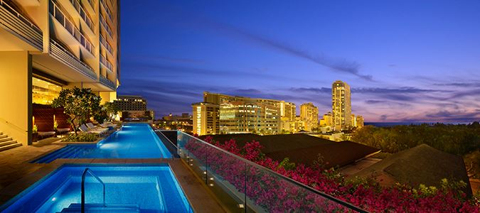 Infinity Pool and Night View