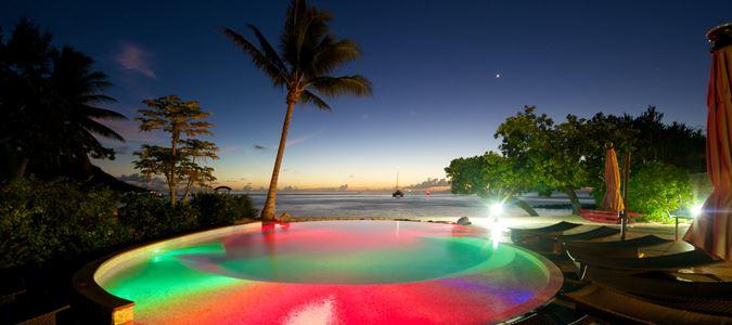 Pool and Lagoon at Night