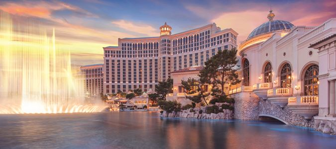 Exterior and Fountains of Bellagio