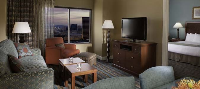 One and Two Bedroom Suite Living Area
