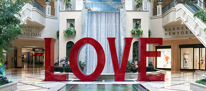 LOVE installation at The Venetian