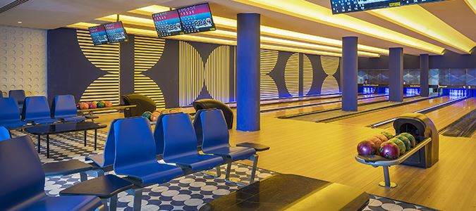 Bowling Alley and Bowling Bar Rendering