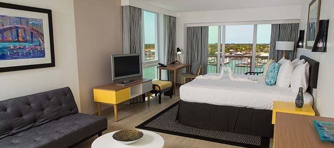 Harbourfront Premium Balcony King Guestroom
