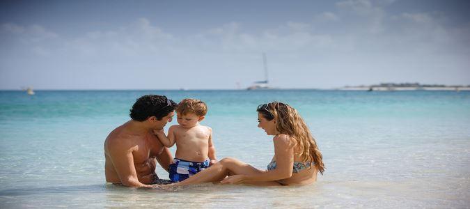 Family Enjoying the Ocean