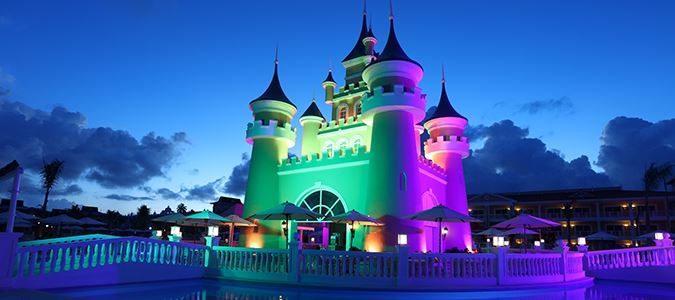 Pool Castle at Night