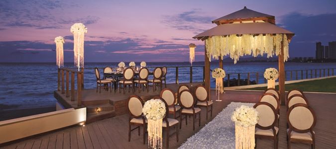 Beach wedding gazebo
