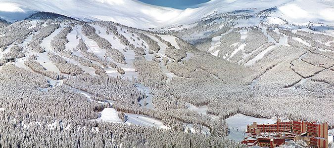 Aerial of Resort and Breckenridge Mountain