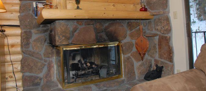 Condo Living Room Fireplace