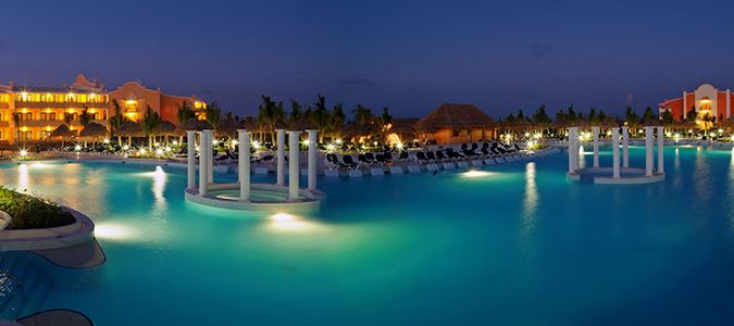 Main Pool at Night