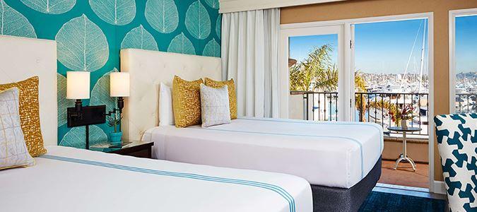 Marina View Guestroom Two Queen Beds