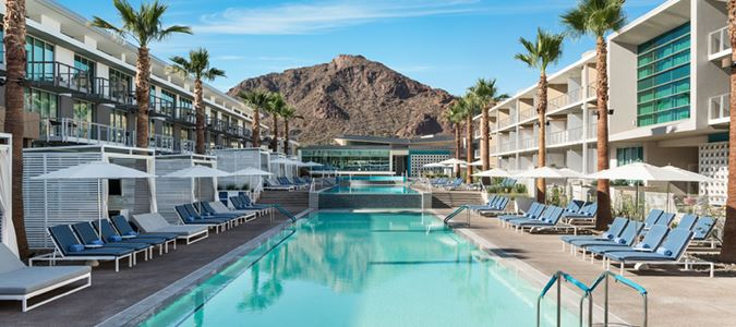 Pool and Camelback Mountain