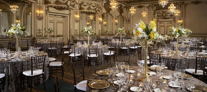 Wedding Reception in the Gold Room