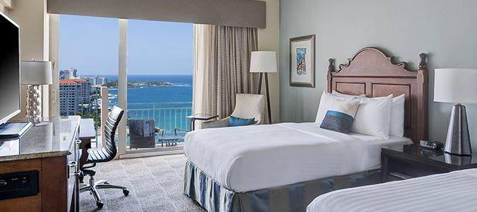 Oceanview Double, Main Tower Guestroom