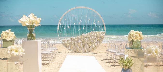 Modern Enchantment Beach Ceremony