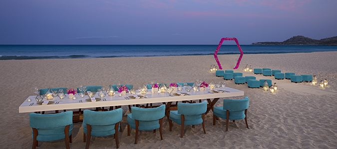 Beach Wedding Ceremony and Reception