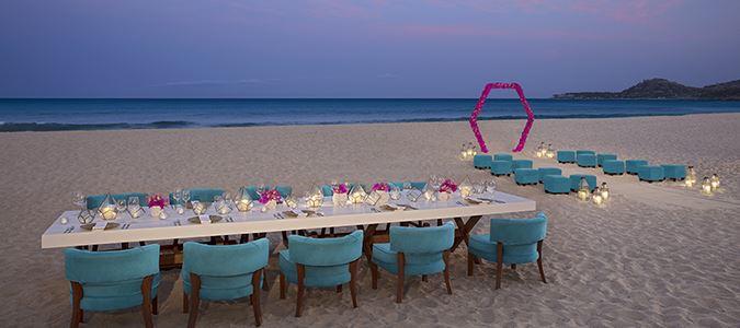 Beach Wedding Ceremony and Reception