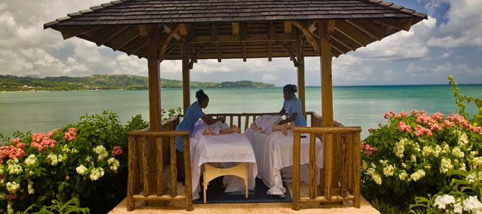 Couples Massage at the Gazebo