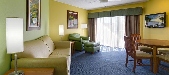 Poolside One Bedroom Suite Living Room