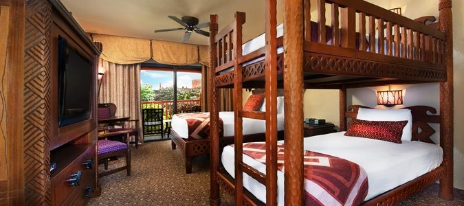 Pool View Guestroom with Bunk Beds