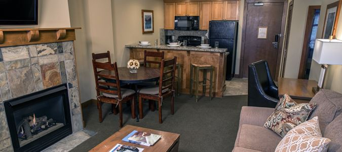 Condo Living Room and Kitchen