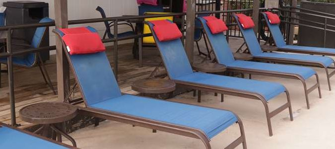 Lounge chairs to enjoy by the pool