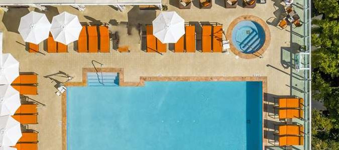 Sky View of the Hotel Arya Pool